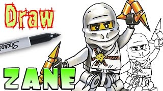 How to Draw Zane - Ninjago - Coloring Pages