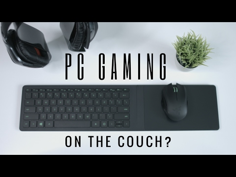 PC Gaming | Razer Turret Living Room Gaming Mouse and Lapboard