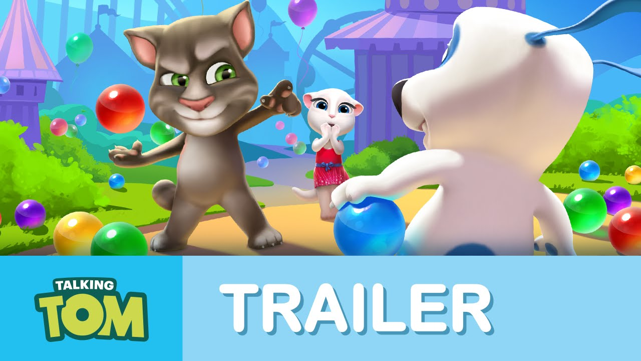 Talking Tom Bubble Shooter Official Trailer Youtube