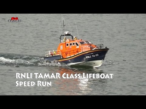 1:16 Model Slipway Tamar Class Lifeboat RC boat speed runs!