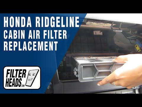 how to replace cabin air filter honda ridgeline youtube
