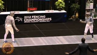NCAA Fencing 2012 - Women's Sabre Final: Ward DUKE v Aksamit PSU