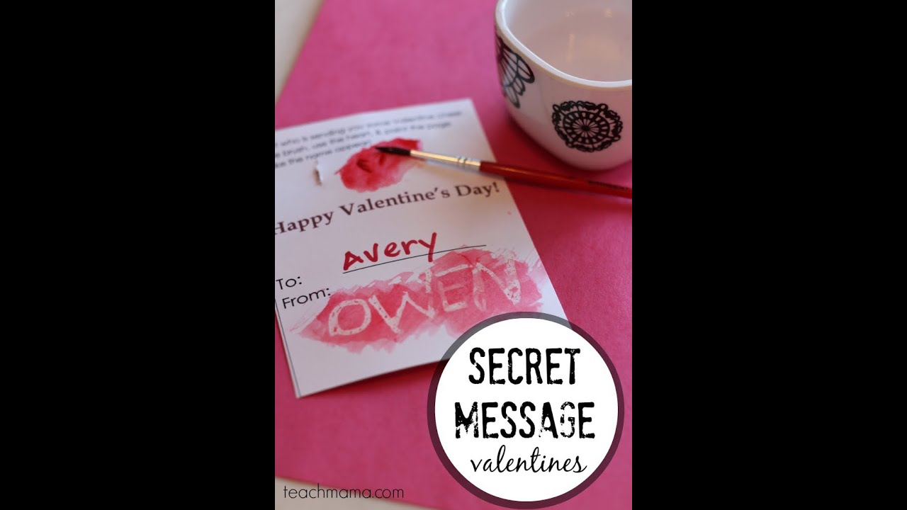 hidden message valentines day card how to make secret message valentines easy kid crafts 6707