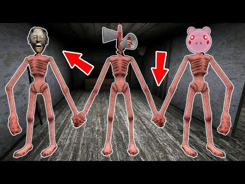 Granny vs Siren Head vs Piggy  - funny horror animation parody (all series about Siren Head)