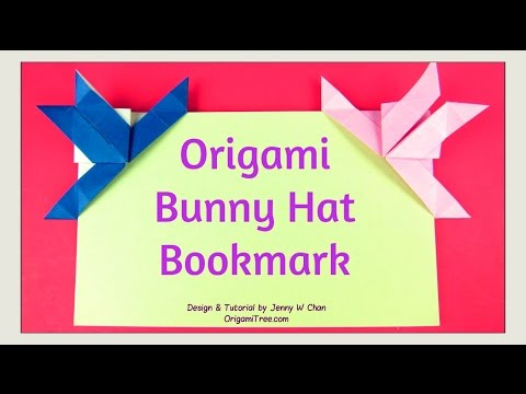 Easter Crafts Origami Rabbit Origami Bunny Bookmark Hat Easy