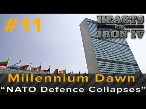 "Hearts of Iron 4: Millennium Dawn - ""NATO Defense Collapses"" Ep 11 (Russia WW3 Gameplay)"