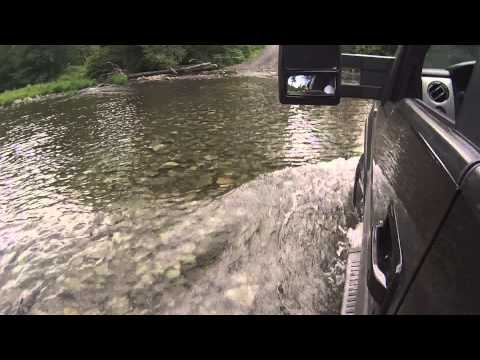 F150 Babb creek crossing in-truck gopro pov stony fork road
