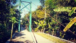 Melihat Jembatan Gantung Di Desa Pursari,Sambungmacan,Sragen‼️