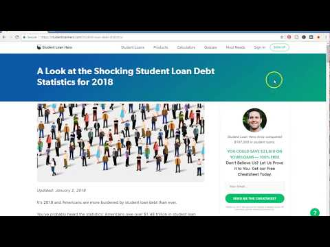 Student Loan Crash Crisis 2018- Student Loan Statistics Staggering Numbers 2018
