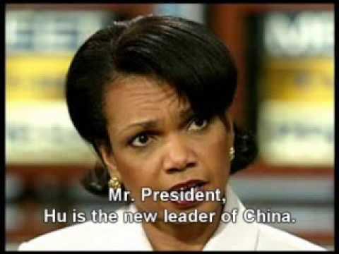 Condoleezza Rice and George Bush Parody