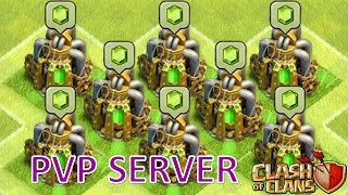 CLASH OF CLANS PVP SERVER HERŞEY SINIRSIZ