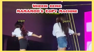 Wheein being Mamamoo's copy machine