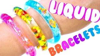 DIY LIQUID GLITTER BRACELETS | Things to do when you