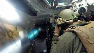 M1 Tanks Send Rounds Down Range - Interior View