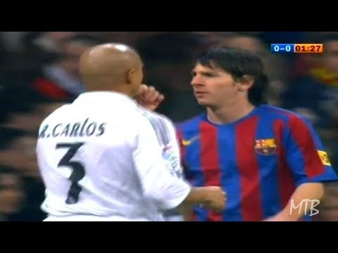 The Young Lionel Messi Vs Great Players