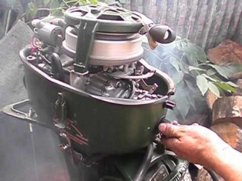 лодочный мотор Москва М карбюратор от мотоцикла тула - YouTube