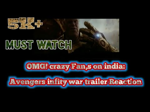 OMG! Indian fans reaction avengers infinity war trailer in local theater