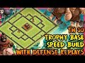 Clash Of Clans New BEST Town Hall 10 TH10 Trophy Base Defense Replays 2017 ANTI 2 STAR