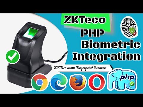 ZKTeco 4500 PHP Web Biometric Integration Demo