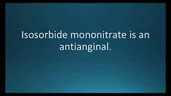 How to pronounce isosorbide mononitrate (Imdur) (Memorizing Pharmacology Flashcard)