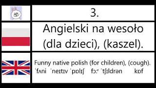 3. Angielski na wesoło (dla dzieci), (kaszel). - Funny native polish (for children), (cough).