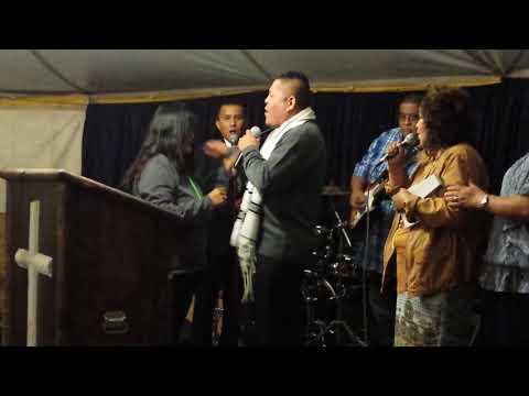"Evangelist Harrison Mann singing ""God Naa Áháyáa Doo"""