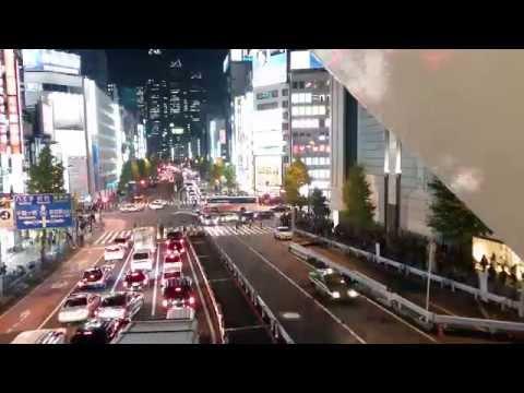 Tokyo Timelapse busy Shinjuku intersection