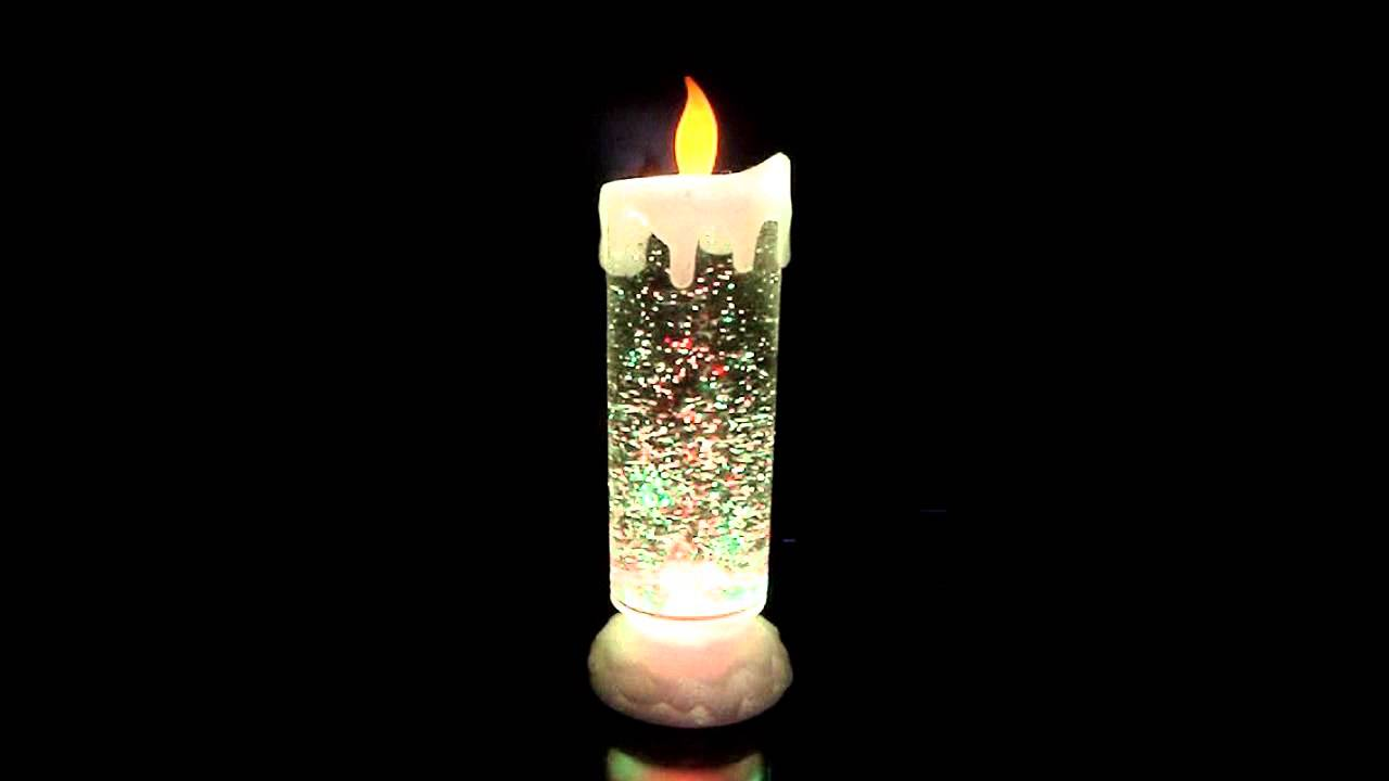 Swirling Glitter Candle Light YouTube