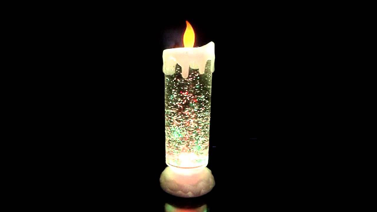 Swirling Glitter Candle Light Youtube