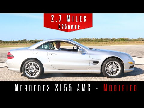 See This 14-Year-Old Mercedes SL 55 AMG Go Nearly 200 MPH