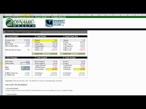 Money Management Calculator and Trading Journal - Part 1