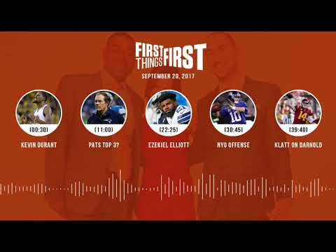 First Things First audio podcast(9.20.17) Cris Carter, Nick Wright, Jenna Wolfe | FIRST THINGS FIRST