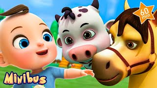 Old MacDonald Had a Farm + More Nursery Rhymes for Children & Kids Songs | Baby Songs | Minibus
