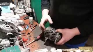 Збірка двигуна бензопили штиль stihl ms 180 Assembling the engine chainsaw calm stihl ms 180