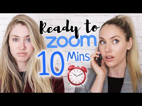 Bed to Zoom in Under 10 Minutes! // Conference Call Makeup for School or Work! - YouTube