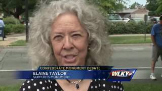 Group protests removal of Confederate Monument