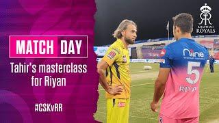 Imran Tahir's masterclass for Riyan Parag at IPL 2020