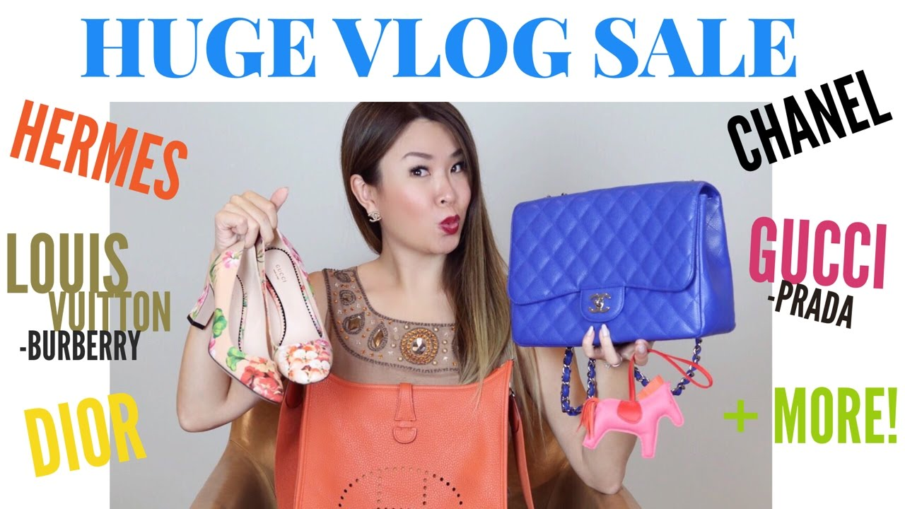 HUGE VLOG SALE Chanel LV Hermes Gucci Dior Prada More - How to create paypal invoice gucci outlet online store authentic