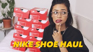 One of itslinamar's most viewed videos: NIKE FLYKNIT SHOE HAUL 2016 | AIR MAX 1'S & ROSHE'S