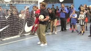 The day Arnold Schwarzenegger visited Futsal Oz