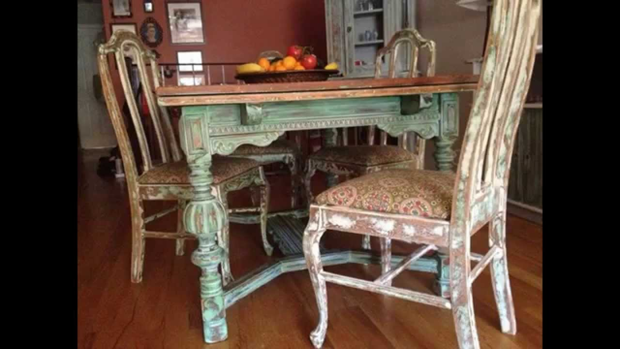 Creative shabby chic kitchen table decorating ideas youtube for Shabby chic dining table decor