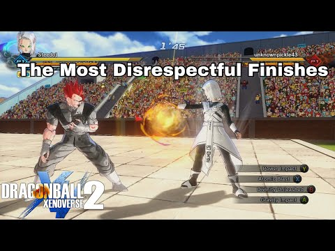 More Disrespectful Finishes In Dragon Ball Xenoverse 2  - Female Custom Character Themed