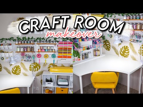 EXTREME CRAFT ROOM MAKEOVER + TOUR 2020! *On A Budget* | Organization Ideas!