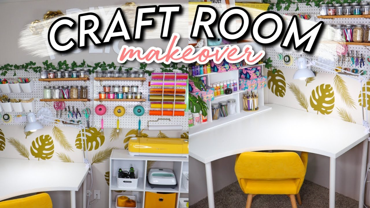 Extreme Craft Room Makeover Tour 2020 On A Budget Organization Ideas Youtube