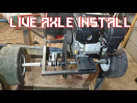 Predator 212 Go Kart Live Axle Install - YouTube