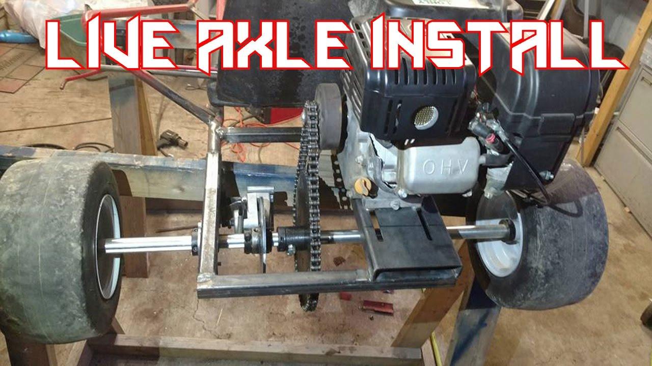 Predator 212 Go Kart Live Axle Install  YouTube