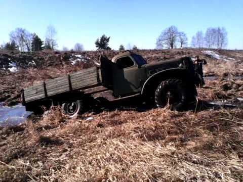 видео зил 131 и157 грязь