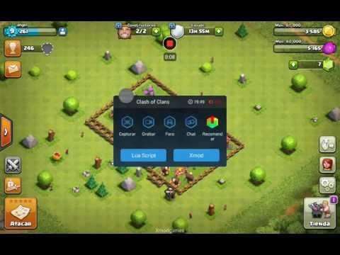 Ataque xmod games con 999 mineros clash of clans (root)