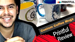 Custom Coffee Mugs: Printful Product Review (Make Mugs With Your Art on Them) Art Product Ideas