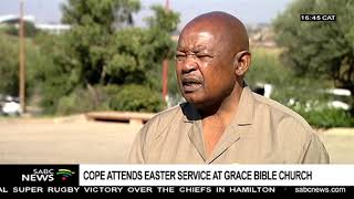 Zapętlaj COPE's Lekota attends Easter at the Grace Bible Church, Orlando Stadium | SABC Digital News